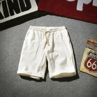 夏季亚麻短裤男士加肥加大码韩版宽松五分裤潮流沙滩裤棉麻男裤子