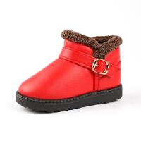 冬季童鞋儿童雪地靴女童靴子防水加绒加厚宝宝雪地靴男童棉鞋srr