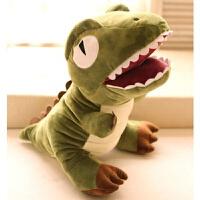 卡通毛绒公仔 恐龙布娃娃 男孩玩具抱枕插手靠垫暖手宝