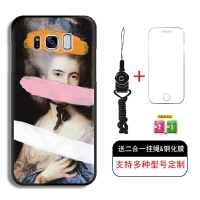 三星S8手机壳s8plus全包s6e黑磨砂软套s7e简约艺术油画圣母 三星S8 肖像女