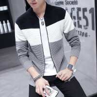 秋冬新链开衫男式毛衣针织衫外套学生韩版青少年长袖