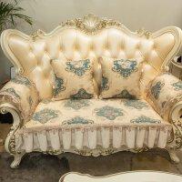 欧式沙发垫防滑布艺客厅贵妃123组合套装真皮坐垫秋冬季
