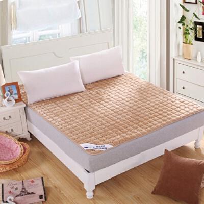 法兰绒加厚榻榻米床垫床褥子珊瑚绒法莱绒床垫双人单人学生宿舍床  200X220cm 定做