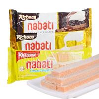 【当当海外购】印尼进口 零食丽芝士纳宝帝nabati丽巧克力味威化饼干 巧克力/香草/奶酪180g*4盒