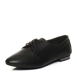 Teenmix/天美意2018春专柜同款牛皮方跟系带鞋女单鞋CCT20AM8