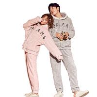日系卡通情侣家居服秋冬季可爱睡衣男女长袖珊瑚绒加厚韩国