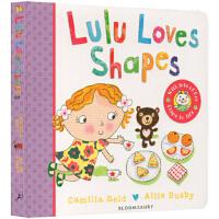 现货英文原版 Lulu Loves Shapes 露露系列 纸板翻翻书 幼儿启蒙 Lulus系列 启蒙认知书 进口书