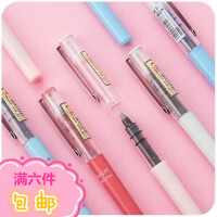 白雪直液式针管型走珠笔 学生用红笔中性笔 塑料黑水性笔文具用品