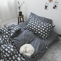 ???开学学生宿舍床上三件套单人床0.9m 北欧风男女高中大学寝室 白羊座 bug 0.9m床(被套160x210cm