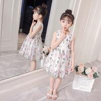 女童连衣裙2018夏装新款童装裙子小女孩衣服公主儿童洋气潮韩版 白色 110正码