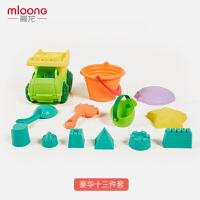 曼龙儿童沙滩玩具套装玩沙子挖铲子工具宝宝戏水洗澡玩具沙滩套装13件套
