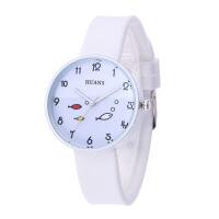 儿童卡通手表 学生手表 女生韩版简约小清新硅胶石英手表