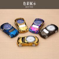 充电打火机冰面跑车型 手表USB充电点烟器 彩冰创意礼品打火机