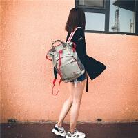 韩版背包女个性百搭学院风休闲包时尚潮流大容量双肩包男士旅行包