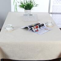 桌布布艺棉麻纯色 台布亚麻桌布餐茶几咖啡厅长方桌布圆桌布定制