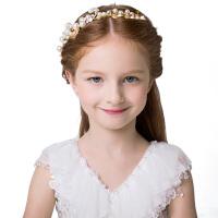 2018新款儿童头饰花环儿童发饰品珍珠发箍头箍发卡女童头饰发夹女4727 白色