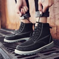 英伦男靴子男士男鞋棉鞋工装短靴加绒保暖雪地靴冬季 K08