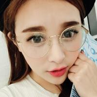 韩版潮人纤细金属男女款眼镜框2944 复古圆形眼镜架太子镜