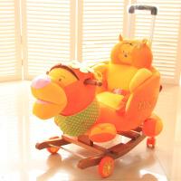 大号推杆万向轮大象摇马木马儿童音乐摇椅宝宝早教玩具