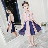 女童连衣裙夏装韩版洋气儿童装新款夏季中大童雪纺裙女孩裙子