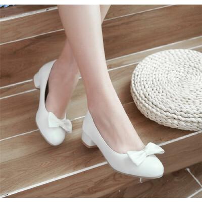 大女童皮鞋春秋季小主持童鞋蝴蝶结白色儿童高跟鞋学生舞蹈鞋