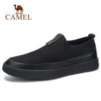 camel骆驼男鞋 秋冬日常休闲套脚牛皮鞋子工作时尚乐福轻盈板鞋