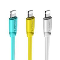 数据线 适用苹果安卓type-c面条usb快速充电线 红色-苹果数据线 50cm