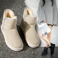 女式 新款雪地靴女棉鞋女学生秋冬季平底加厚加绒保暖短靴