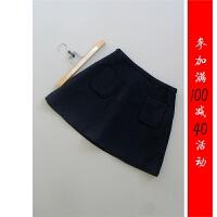 [151-180-3]羊毛OL半身裙中裙一步裙0.3