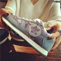欧洲站秋冬季新款真皮星星运动鞋女低帮加绒平底板鞋舒适休闲女鞋