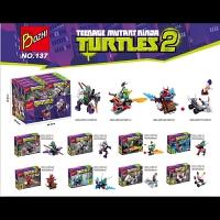 开智新款137忍者神龟系列 未来骑士团128 博智拼装积木玩具