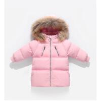 儿童羽绒服2018冬季新款童装男女童加厚外套中长款韩版时尚大毛领