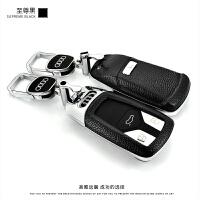 适用于2017新奥迪钥匙扣A4L壳A5保护套TT钥匙包Q7汽车钥匙套男女