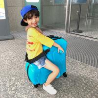 ?儿童行李箱可坐可骑拉杆箱小孩万向轮宝宝皮箱子卡通女旅行箱包男