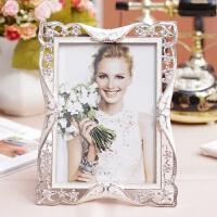 家居生活用品复古相框摆台创意欧式小7寸6寸10寸床头柜婚纱照片相架加冲洗