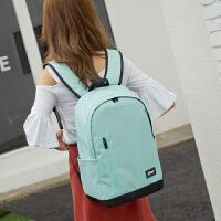 韩版双肩包女中学生书包男大容量帆布旅行包电脑包休闲运动背包潮 328艾绿 40C M*28CM*15CM