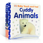 【发顺丰】英文原版DK儿童触摸书 DK Baby Touch and Feel Cuddly Animals 早教触摸