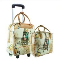 拉杆包旅行包短途旅行袋 女韩版防水PU大容量行李包短途 行李袋