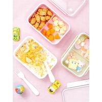 宝宝外出水果分格保鲜盒学生饭盒水果盒便携儿童便当盒