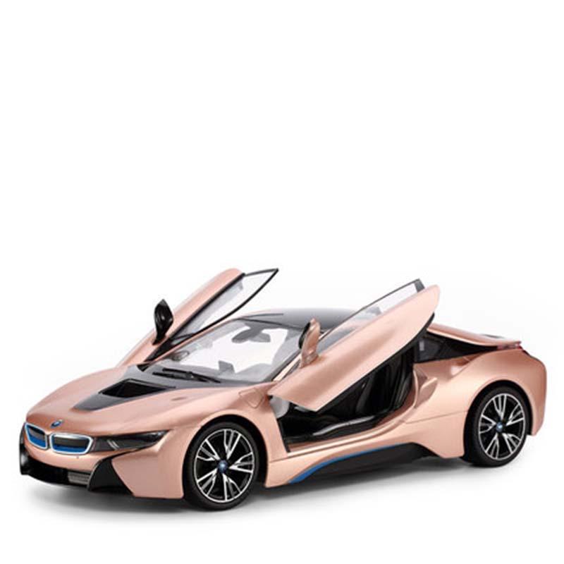 遥控汽车玩具跑车赛车模型可开门大号宝马i8充电星辉儿童男孩6  质量保证