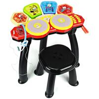贝芬乐架子鼓幼儿童架子爵士鼓音乐器麦克话筒早教男女玩具