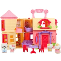 hellokitty凯蒂猫玩具快乐的家 公主城堡 儿童女孩过家家仿真房子套装