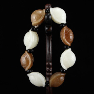 和田玉糖玉白玉龙龟手链天然玉石长寿龟手串