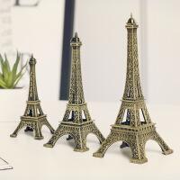 FGHGF 巴黎埃菲尔铁塔摆件模型家居房间客厅创意装饰品生日礼物小工艺品