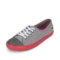 Lacoste法国鳄鱼女鞋拼色潮流休闲帆布鞋 7-25SPW1136