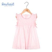 【3件3折:104元】水孩儿souhait女童宝宝洋气裙式上衣夏薄款新款女小童AZEXM461