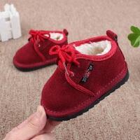 冬天女宝宝大棉鞋0-1-3岁2保暖小孩童短靴5男童鞋4加绒真皮雪地靴