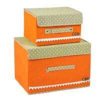 储物箱 衣物内衣收纳箱 收纳盒大号有盖 两件套 整理箱