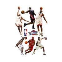 高比科比Kobe 库里乔丹詹姆士麦迪 篮球传奇墙贴壁画贴纸 90x60
