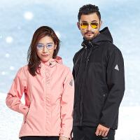 户外三合一冲锋衣男士女士秋冬滑雪服两件套外套
